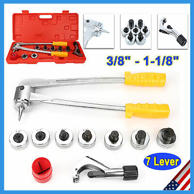 7 Lever Manual Copper Tube Pipe Expander Ct-100 Swaging Hvac Kit Expanding Tool