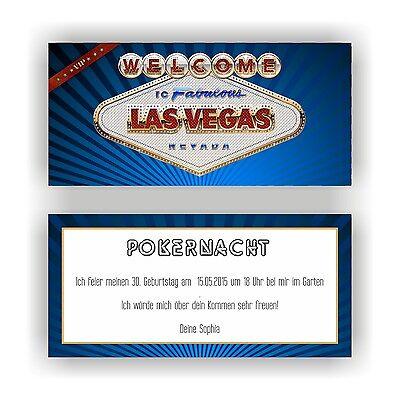 rtstag Einladung Einladungen Las Vegas Casino Pokern VIP E36 (Casino Einladungen)