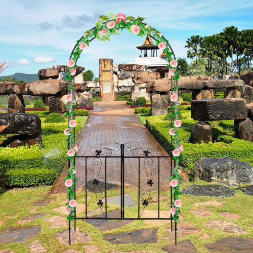 Outdoor Arbor Garden Wedding Climbing Plants Arch Decor Steel Frame Trellis Gate