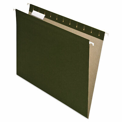 Pendaflex Earthwise Recycled Colored Hanging File Folders 15 Tab Letter Green