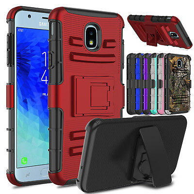 For Samsung Galaxy J3 Orbit/Star/J3 V 2018/Aura Holster Stand Phone Case Cover