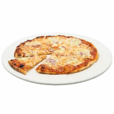 Pizzastein rund Ø 38 cm Brotbackstein aus Cordierit für Grill Gasgrill Backofen