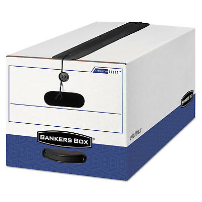 Bankers Box Liberty Plus Storage Box Letter Stringbutton Whiteblue 12carton