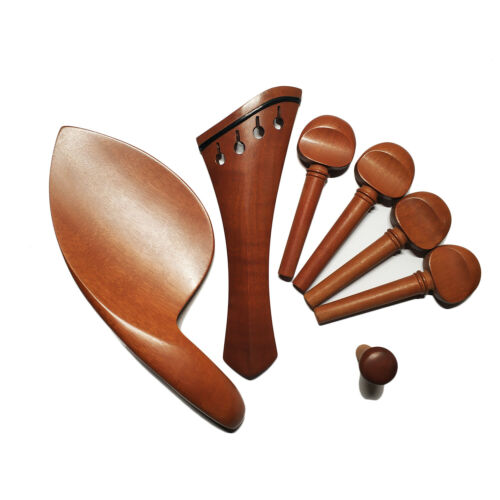 4/4 Violin Jujube Wood Fitting Harp Tailpiece Chinrest Endpin Antique Violin Peg
