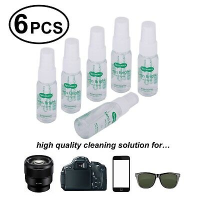 Camera Lens Cleaning Solution (6 PCS 1oz Lens Cleaning Solution Spray Camera Glasses Tablet iPhone)