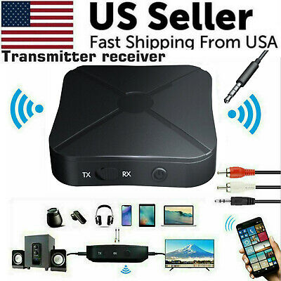 2in1 Bluetooth Transmitter Receiver Wireless Adapter TV Home Stereo A2DP Audio