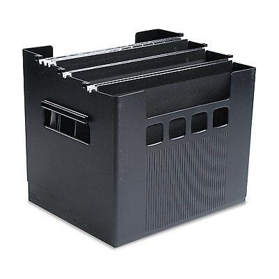 Pendaflex DecoFlex Desktop File w/Folders Letter Plastic 12 3/4 x 10 x 11 Black