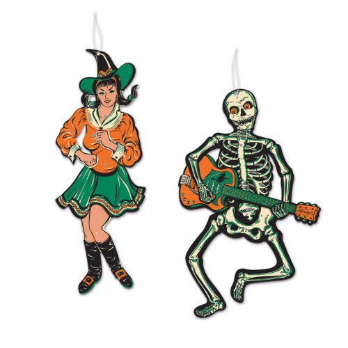 HALLOWEEN Decoration Jointed GOGO DANCERS Vintage Beistle 1966 Reproduction