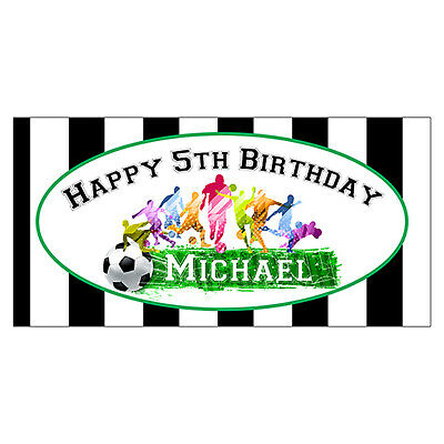 Soccer Themed Party (2'x3' Soccer Birthday Party Banner, Soccer Theme Birthday Party)