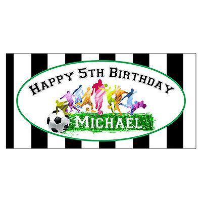 2'x3' Soccer Birthday Party Banner, Soccer Theme Birthday Party