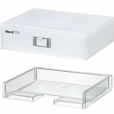 Like-it Homeoffice Desk Stackable Storage Drawer Organizer And A4 File Tray