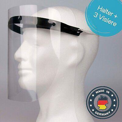Schutzvisier Visier Gesichtsschutz Schutzmaske 1 Halterungen mit 3 Wechselfolien