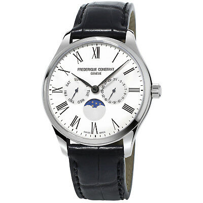 Frédérique Constant Slimline Men's FC-260WR5B6 Quartz Moonphase 38.5mm Watch