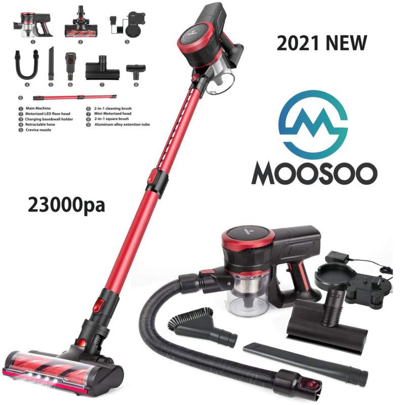 MOOSOO K17U Cordless Vacuum Cleaner 23Kpa Strong Suction 4 in 1 Stick Vacuum Red