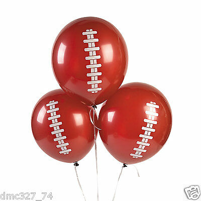 12 FOOTBALL Superbowl Tailgate Game Day Party Decorations LATEX BALLOONS