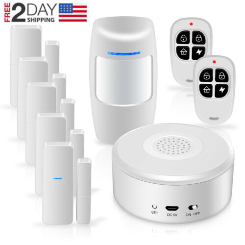Smart Security System DIY No Monthly Wifi Alarm Kit  APP Push for Home Apartment