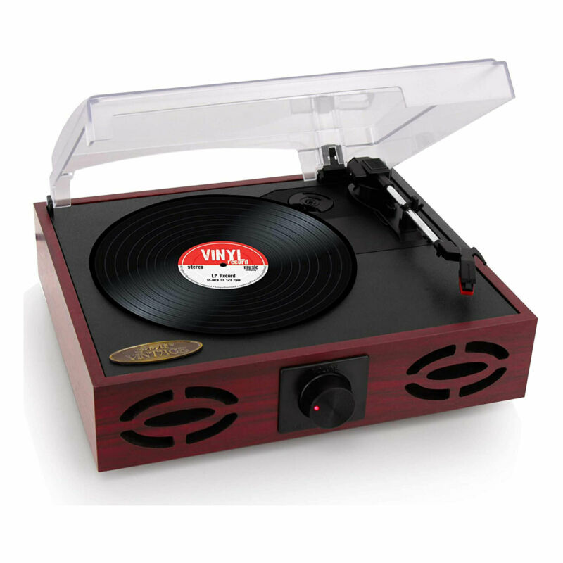 Pyle 3 Speed Vintage Classic Style Record Player with Vinyl to MP3 Recording