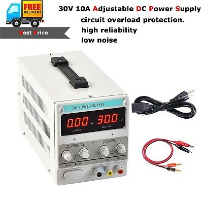 Precision 30V 10A 5A Adjustable DC Power Supply Variable Dual Digital Lab Test 10a Linear Power Supply
