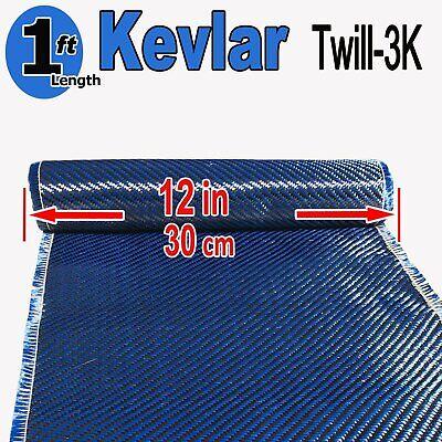 1 Ft X 1 Ft - Made With Kevlar-carbon Fiber Aramid Fabric- 3k2k-200g - Blue