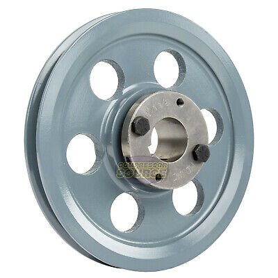 Cast Iron 8.25 Single 1 Groove Belt A Section 4l Pulley W 1-18 Sheave Bushing
