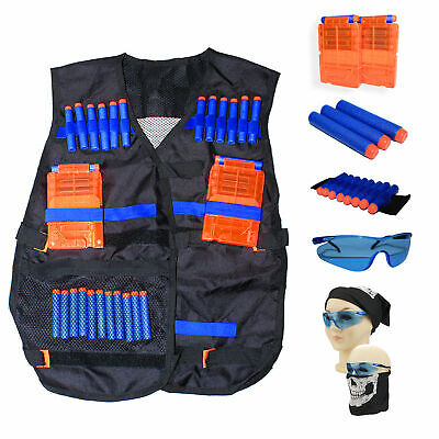 Tactical Vest Kit for Nerf N-Strike Elite w/ Darts, 2 Magazines, Glasses, etc