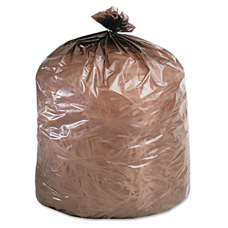 Stout Eco-Degradable Plastic Trash Garbage Bag 39gal 1.1mil 33 x 44 Brown 40/Box
