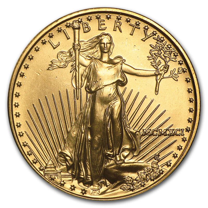 1991 1/2 Oz Gold American Eagle Bu (mcmxci) - Sku #4723
