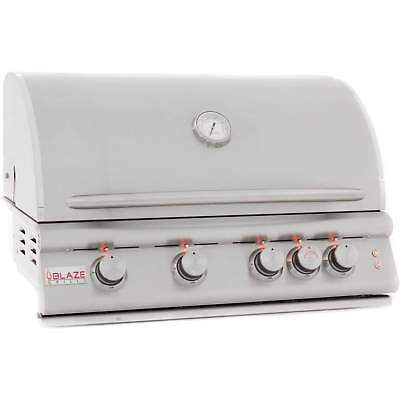 """Blaze Built-In Gas Grill with Lights, 32"""" - Stainless Steel Cast Burners"""
