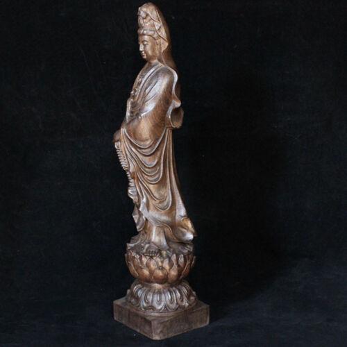 Sandalwood Wood Carving Dharma Buddha Statue Agarwood Bodhisatva Sculpture Craft