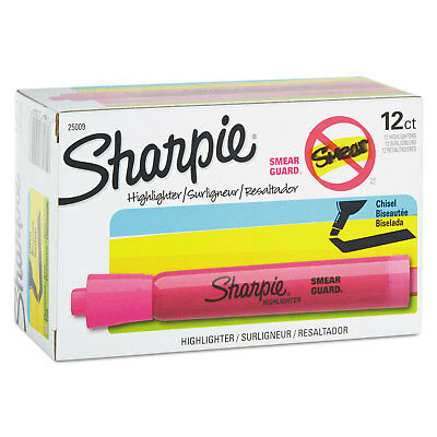 Sharpie Accent Tank Style Highlighter Chisel Tip Pink Dozen 25009