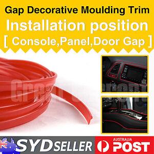 Interior Edge Gap Matte Red Door Handle Car Moulding Accessories Garnish 5.5M