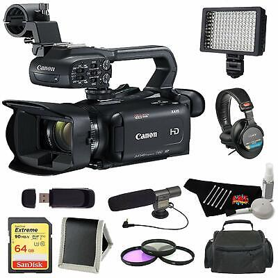Canon XA11 Compact High Definition Camcorder + 64GB Memory Card +  + XL Pro Camc