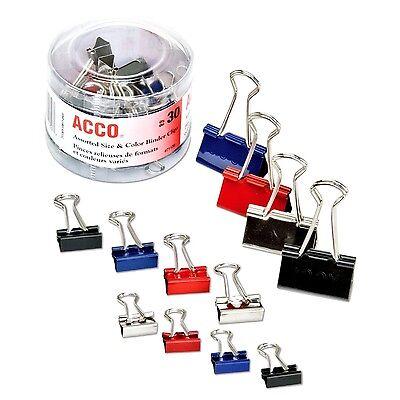Steel Binder Clips Assorted Colors & Size 30 Count Impressions Paper Sorter Grip ()