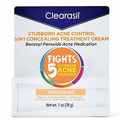 Clearasil Stubborn Acne Control 5in1 Concealing Treatment Cream, 1 oz.