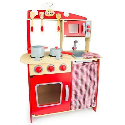 küche aus Holz Kinderspielküche Spielküche Spielzeug W10C072 (Besten Kid Spielzeug)