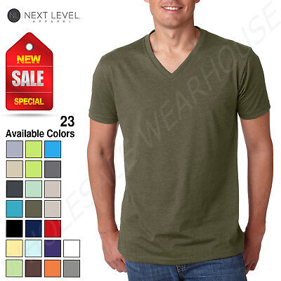 men s premium cvc v neck soft