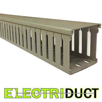 Open Slot Wire Duct - Upvc - 3 X 3 X 6.5 Feet - Gray - 8 Pack - Betaduct