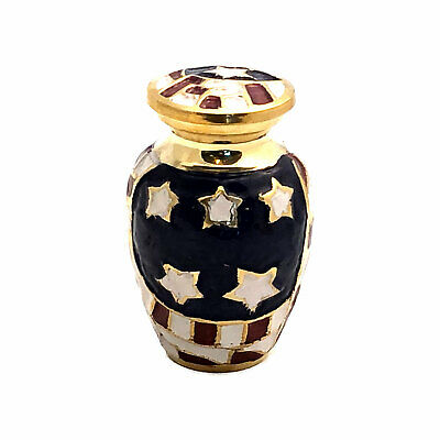 - Well Lived™ Small Brass US Flag Keepsake Cremation Urn