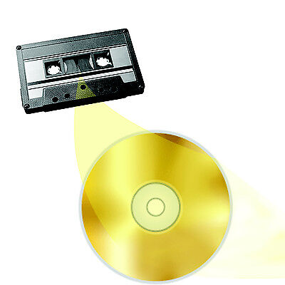 Audio Cassette Tape to CD or MP3 Transfer Copy Convert Service