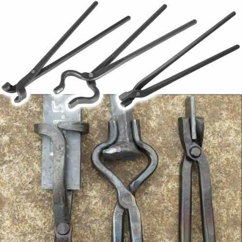 Knife Making Tongs Set Tools Blacksmith Bladesmith Tong Vise Anvil Forge 3PCS