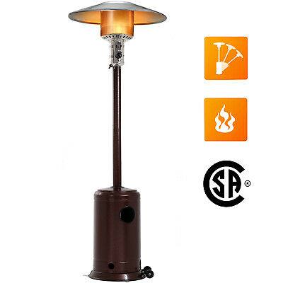 Bronze Garden Outdoor Patio Heater Propane Standing LP Gas Steel w/accessorie 87 Outdoor Propane Patio Heater