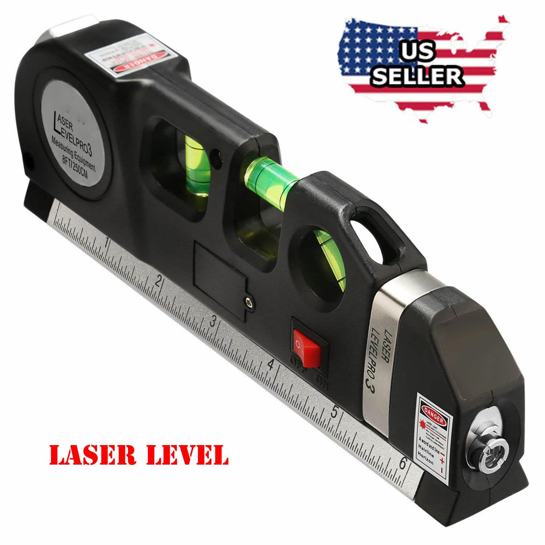 Multipurpose Laser Level Vertical Horizon Measuring Tape Aligner   Metric Rulers Home & Garden