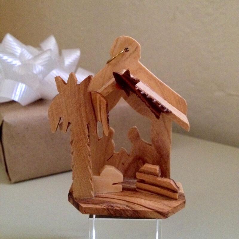 Grade A Olive Wood Nativity Scene Christmas Ornament - Holyland, Israel, Jesus