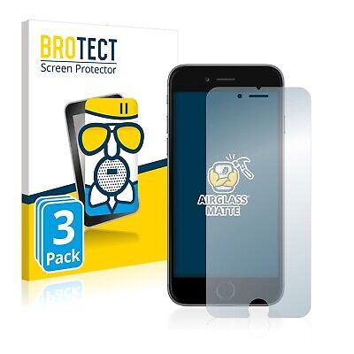 3x Protector Pantalla para iPhone 6 / 6S Cristal Mate Lamina de...