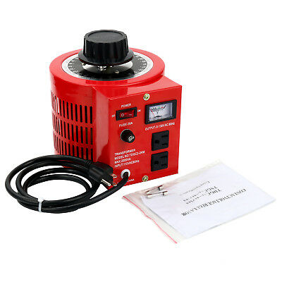 Variable Ac Output Auto Transformer Voltage Regulator 2000w 20amp 110v