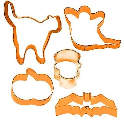 Halloween 5PC Cookie Cutters Fun Family Spooky Creepy Party Food Table Wear - Halloween Spooky Party Food