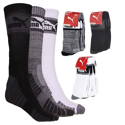Puma Men's 3-Pack 1/2 Terry Crew Socks Clothing, Shoes & Accessories