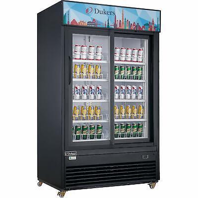 New Dukers Dsm-47sr Commercial Glass Sliding 2-door Merchandiser Refrigerator
