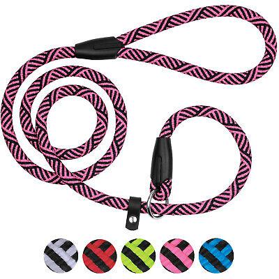 Strong Rope Dog Leash Slip Lead Reflective 6Ft Nylon Cord Small Large Heavy (Lead Nylon Reflective Leash)