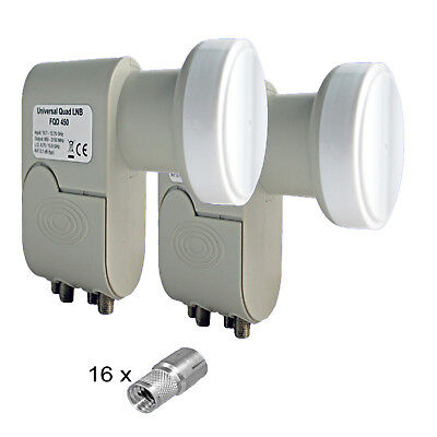 2 Pcs Quad LNB, Lnc 4 Subscriber HD Tv 0,1dB 3D Energy-Saving only 160mA Power for sale  Shipping to United States